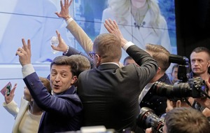 Comedian collects more than 70 per cent of the votes in the Ukrainian election