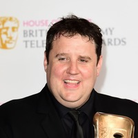 Peter Kay smiles with fans in rare public sighting