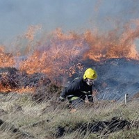 Praise for community effort involved in tackling a major gorse fire in west Donegal