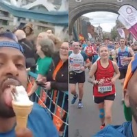 Sheffield mayor films himself eating ice cream while running London Marathon