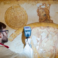 Students use cutting-edge technology to conserve 700-year-old artwork