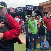 Heart transplant recipient and donor's family meet by chance at baseball game