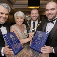 Hotel receptionist Micheál creates history at NIHF industry awards