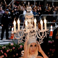 Katy Perry lights up the Met Gala – dressed as a chandelier