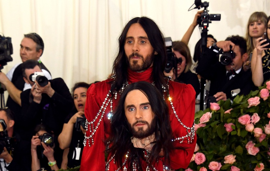 Jared Leto carries a model of his head at the Met Gala - The Irish News