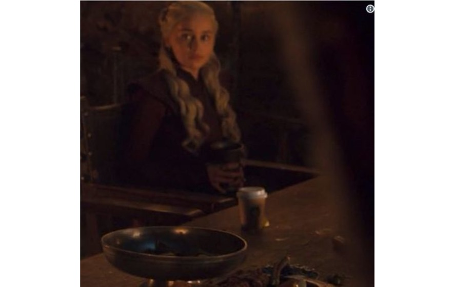 Game Of Thrones' Left A Coffee Cup In A Shot And Twitter Is