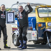 Freight firm boss 'over the moon' after setting tuk tuk land speed record