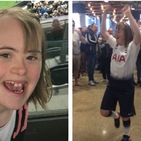 Bullied Spurs fan cheered on by hundreds as she recreates now-famous dance moves
