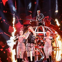 Iceland's techno-punks Hatari shock during first Eurovision live semi-final