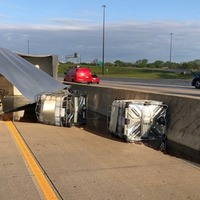 Vehicle leaked honey and diesel fuel after overturning in Indiana