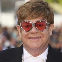 Sir Elton John performs on Cannes beach after Rocketman premiere