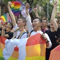 Colourful celebrations in Taipei as Taiwan legalises same-sex marriage