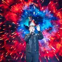 UK entry Michael Rice sings for the judges during Eurovision jury show