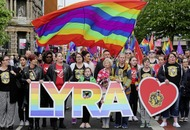 Murdered journalist Lyra McKee's partner calls for same-sex marriage at Belfast rally
