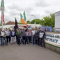 Saoradh holds black flag vigil for IRA hunger striker Raymond McCreesh at children's play park