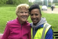 Olympian Dame Kelly Holmes makes surprise appearance at south Belfast parkrun