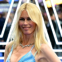 Claudia Schiffer dazzles in rainbow dress at Rocketman premiere