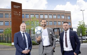 Rio Ferdinand helps launch New Era soccer agency office in west Belfast