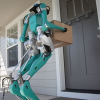 Ford creates two-legged robot that delivers to the door