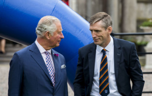 Prince Charles referees cross-community game of two halves, GAA and rugby