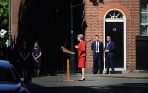 Arlene Foster hails tearful Theresa May's 'selfless service'