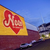 Pro-abortion activists project image of giant heart onto Northern Ireland Office in London