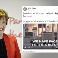 DUP urged to clarify link to pro-Brexit Twitter using Troubles bomb footage