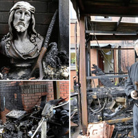 Massgoers pray for arsonists who attacked church