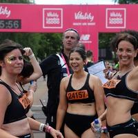 Andrea McLean completes London run in her underwear