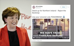 Pro-Brexit Twitter linked to DUP deletes European election video using Troubles footage