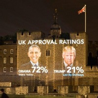 Tower of London projection among protests against Donald Trump's state visit
