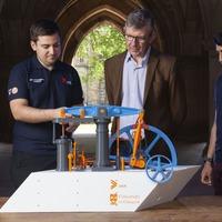 Student team creates 3D-printed model of James Watt steam engine