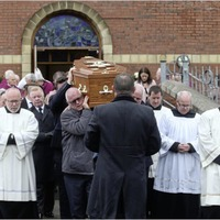 Funeral for west Belfast priest Fr Aidan Denny who was 'a good friend' to many