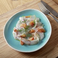 James Street Cookery School: Sea bass ceviche with fennel and orange; Fennel and lemon salmon with pesto butter