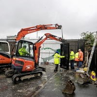 Belfast interface security gate replaced