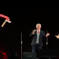 Watch: Gerry Marsden joins Take That at Anfield to sing You'll Never Walk Alone