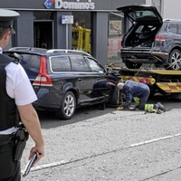 Co Tyrone man says son is lucky to be alive following crash outside family hardware store