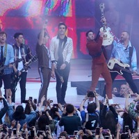 Busted join Jonas Brothers on stage for Year 3000 performance