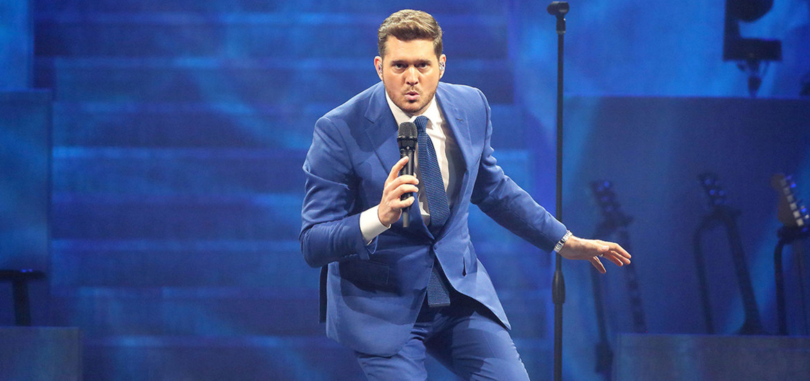 Michael Bublé performs in Belfast