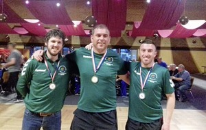 Ireland Road Bowlers celebrate team win in Germany