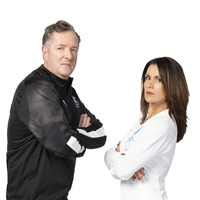 Piers Morgan and Susanna Reid face off for Soccer Aid