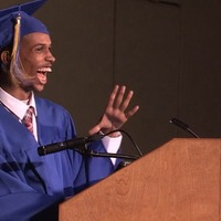 Non-verbal student delivers graduation address using speech synthesizer