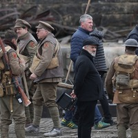 Sam Mendes films in Glasgow with Mark Strong and George MacKay after Tony win