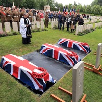 Young soldiers killed in First World War buried in France more than 100 years on