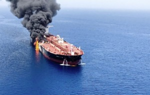 Crews evacuated after suspected attacks on oil tankers near Strait of Hormuz