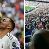 Real Madrid fans chant 'we want Mbappe' at Hazard unveiling
