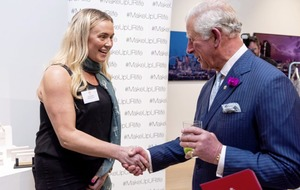 c03f40bd Belfast woman shot nine times by loyalist paramilitaries meets Prince  Charles to showcase beauty business