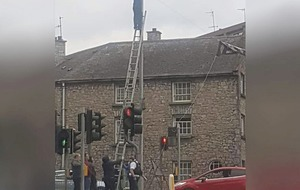 MP accuses police of 'standing by' as banner supporting British army erected in centre of Armagh