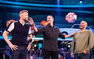 Start your engines: Freddie Flintoff and Paddy McGuinness rev up for Top Gear