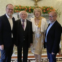 Loughinisland journalists hosted by the Irish President